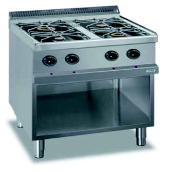 Arredattrezza cucina 4 fuochi a gas su armadio aperto - Migliore cucina a gas ...
